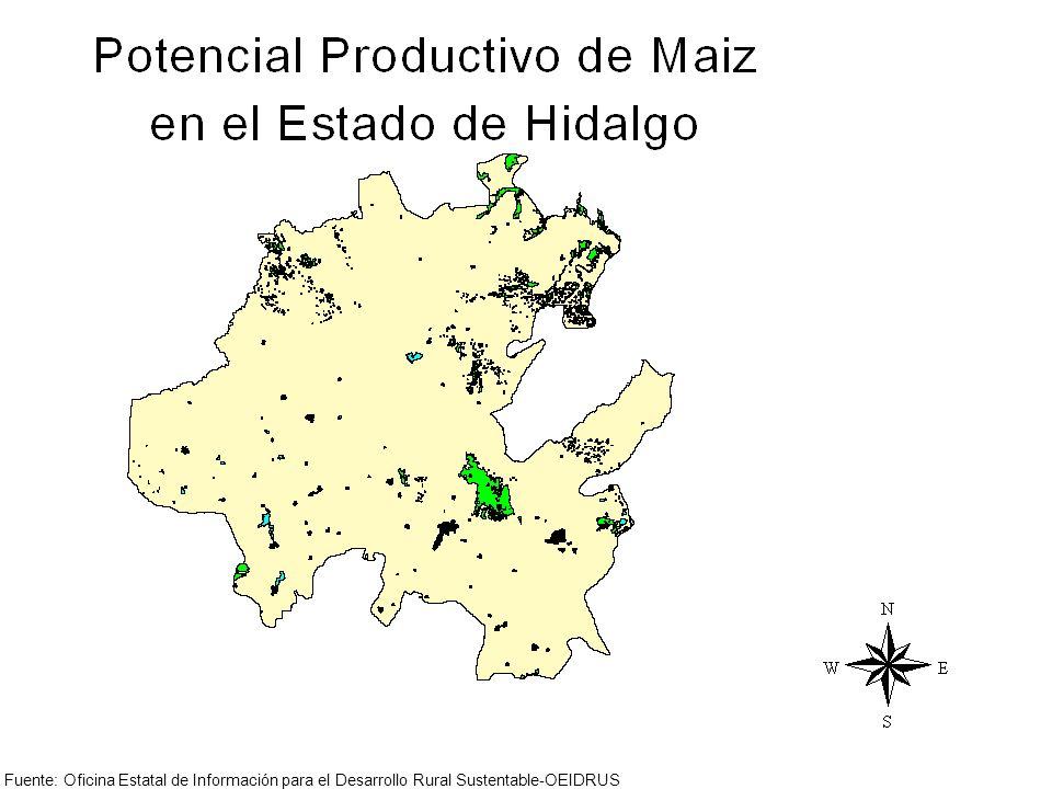 Fuente: Oficina Estatal de Información para el Desarrollo Rural Sustentable-OEIDRUS