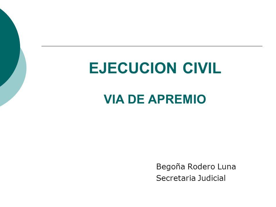 EJECUCION CIVIL VIA DE APREMIO