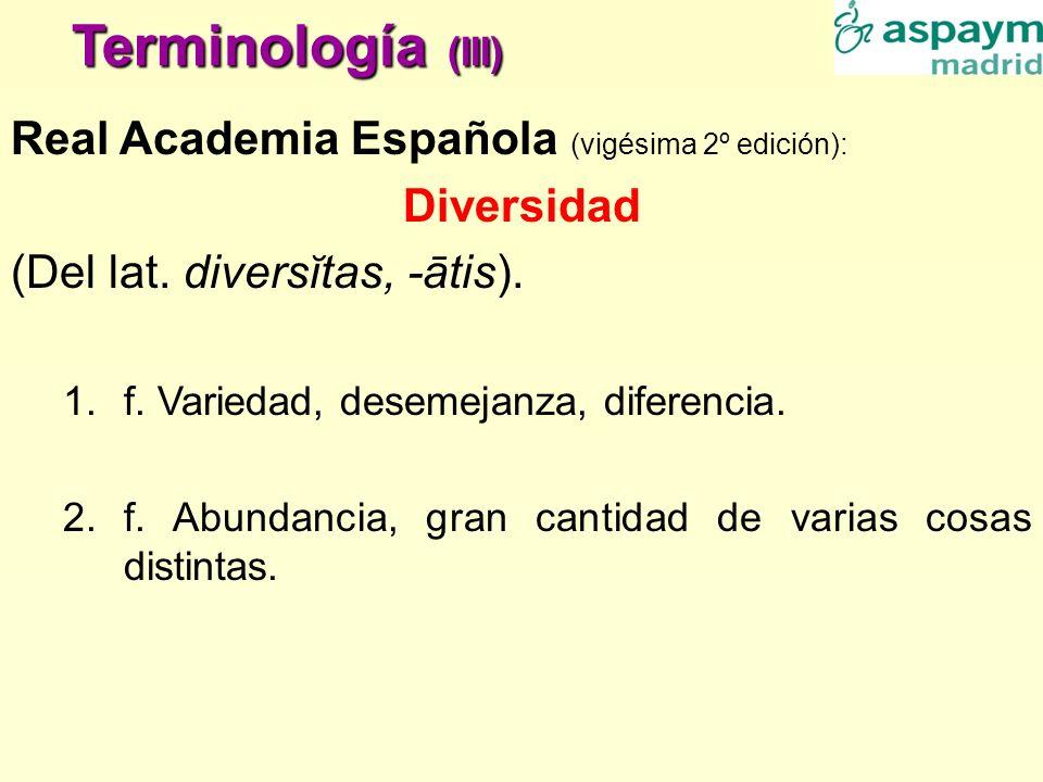 Terminología (III) Real Academia Española (vigésima 2º edición):