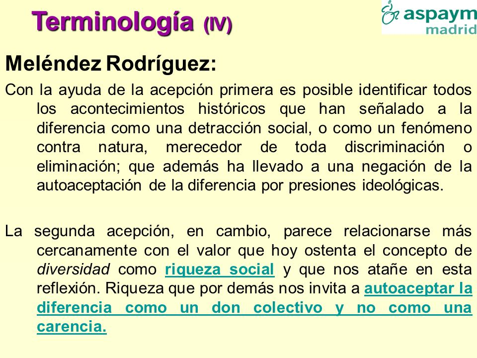 Terminología (IV) Meléndez Rodríguez: