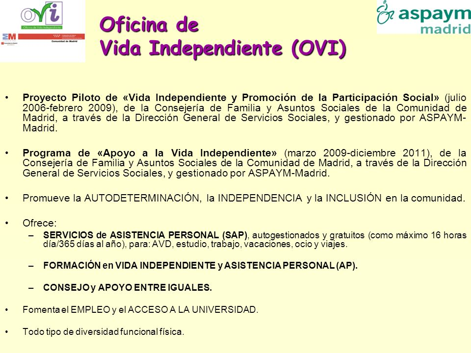 Oficina de Vida Independiente (OVI)