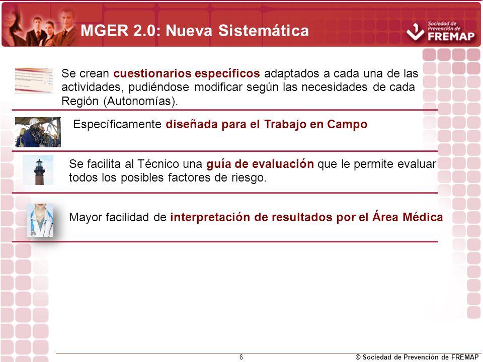 MGER 2.0: Nueva Sistemática