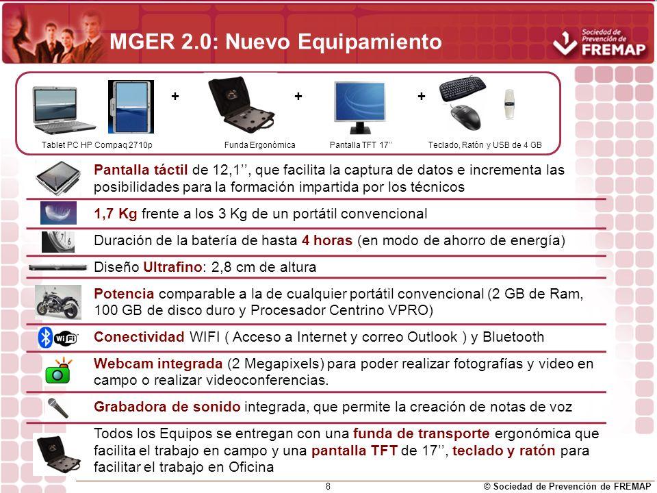 MGER 2.0: Nuevo Equipamiento