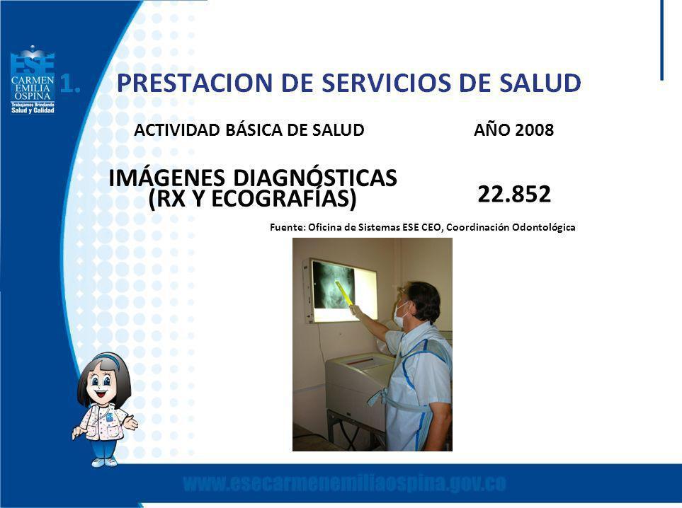 ACTIVIDAD BÁSICA DE SALUD AÑO 2008 IMÁGENES DIAGNÓSTICAS
