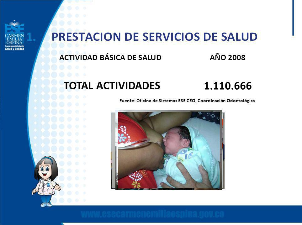 ACTIVIDAD BÁSICA DE SALUD AÑO 2008