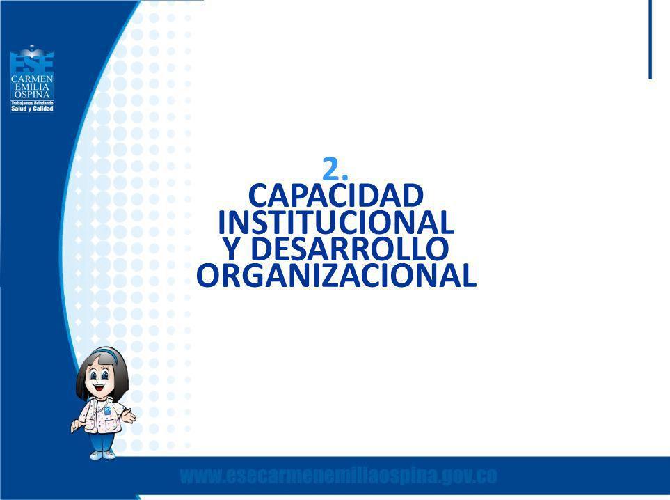 2. CAPACIDAD INSTITUCIONAL Y DESARROLLO ORGANIZACIONAL