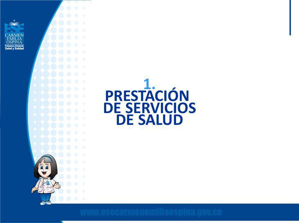 1. PRESTACIÓN DE SERVICIOS DE SALUD
