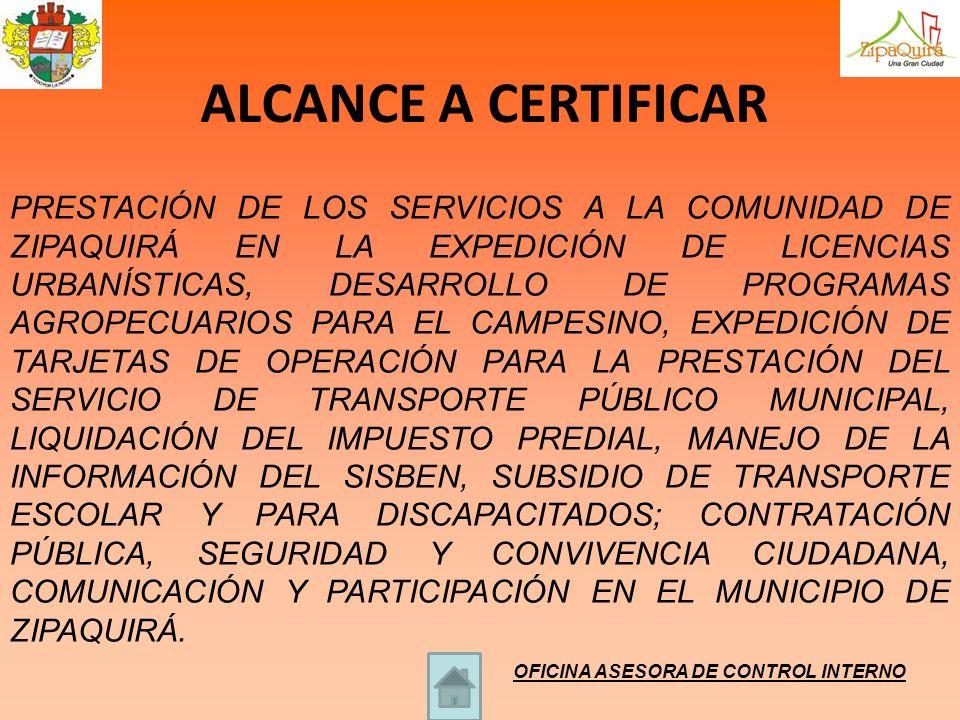 ALCANCE A CERTIFICAR