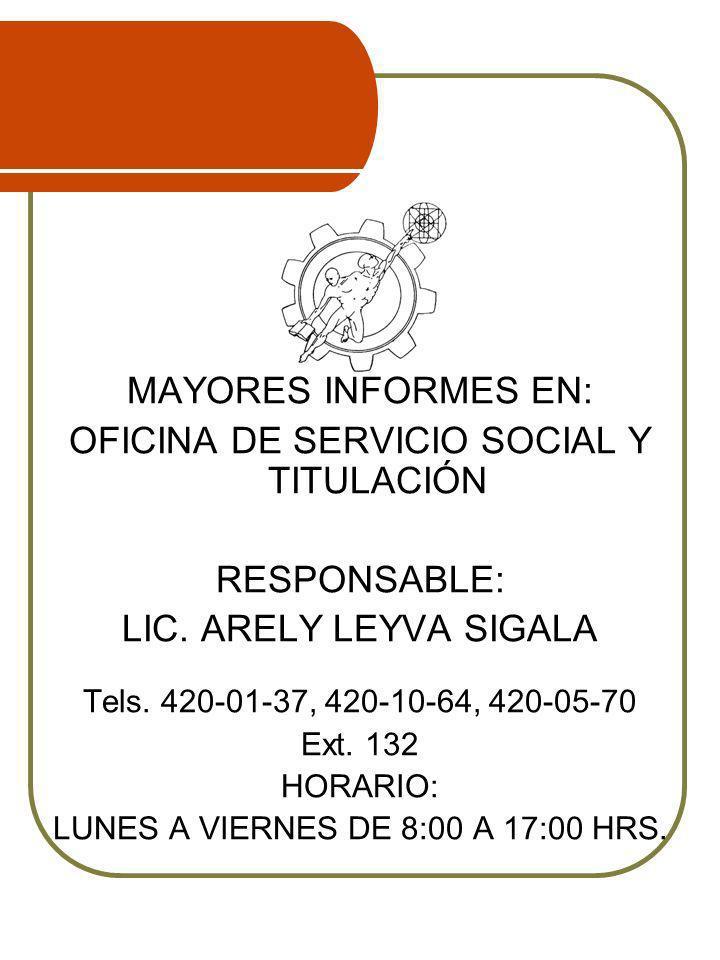 OFICINA DE SERVICIO SOCIAL Y TITULACIÓN