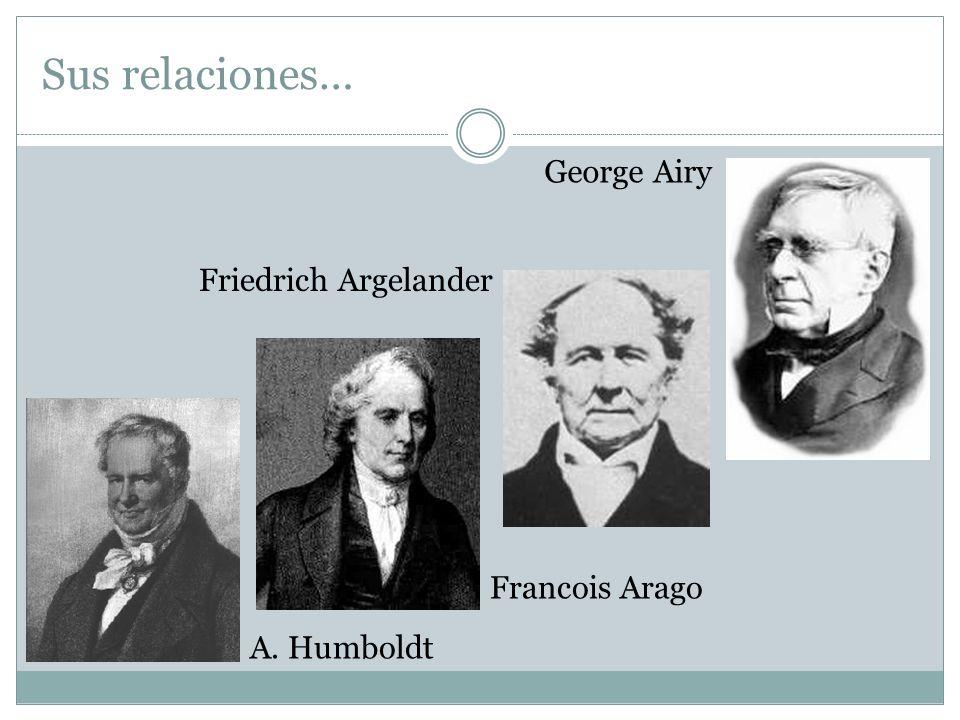 Sus relaciones… George Airy Friedrich Argelander Francois Arago