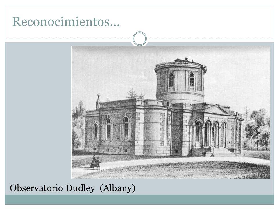Reconocimientos… Observatorio Dudley (Albany)