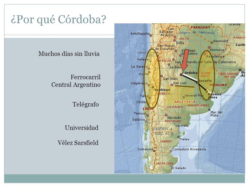 ¿Por qué Córdoba Muchos días sin lluvia Ferrocarril Central Argentino