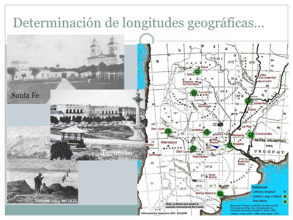 Determinación de longitudes geográficas…