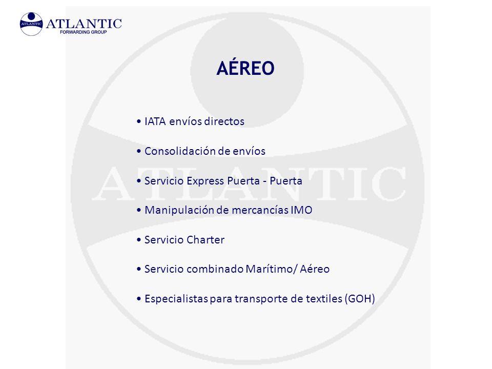 AÉREO IATA envíos directos Consolidación de envíos