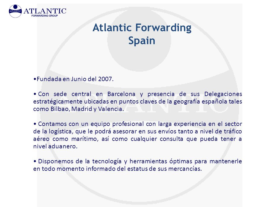 Atlantic Forwarding Spain