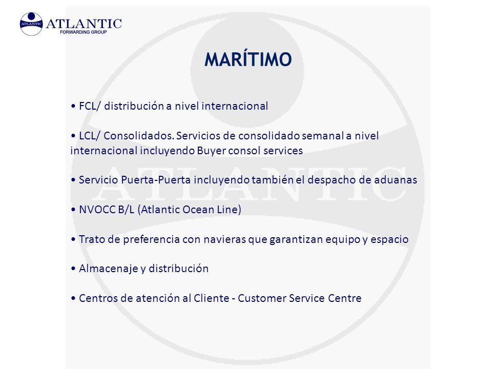 MARÍTIMO FCL/ distribución a nivel internacional