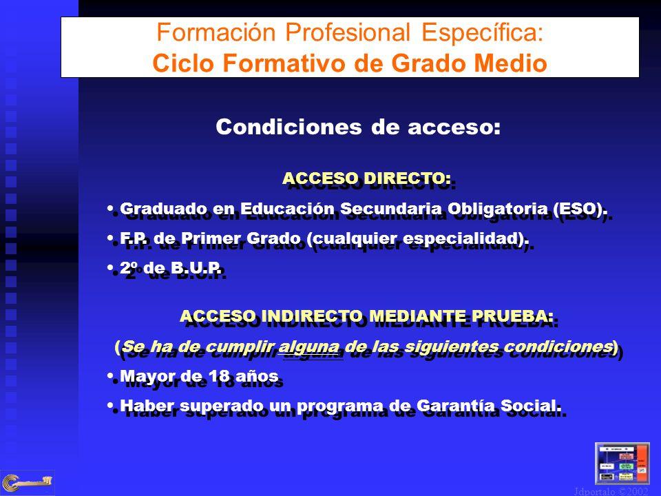 Formación Profesional Específica: Ciclo Formativo de Grado Medio