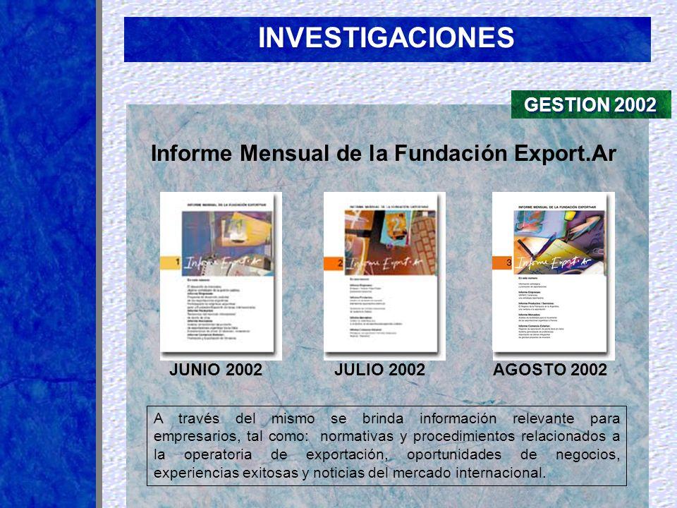 Informe Mensual de la Fundación Export.Ar