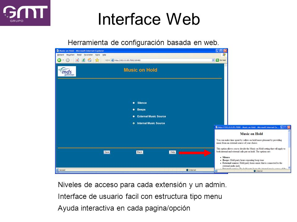Herramienta de configuración basada en web.