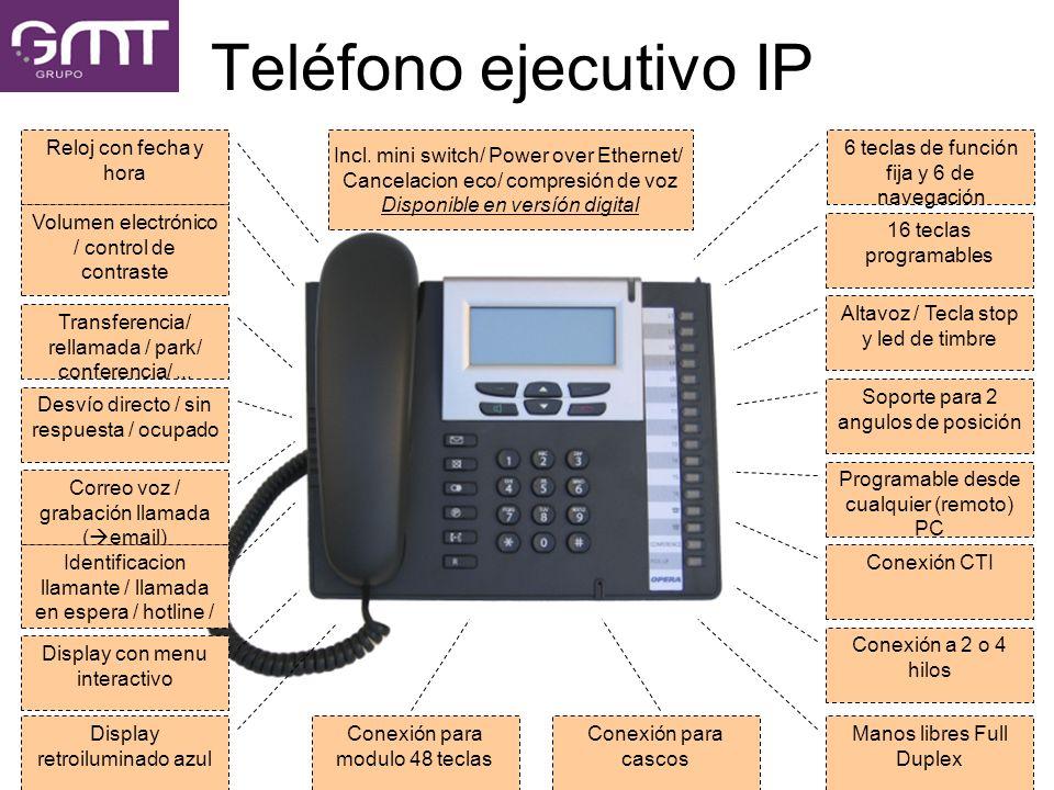 Teléfono ejecutivo IP Reloj con fecha y hora