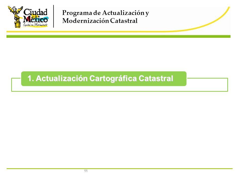 1. Actualización Cartográfica Catastral