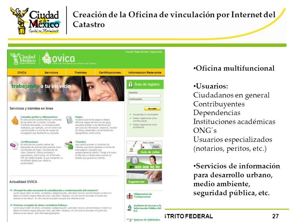 Programa de modernizaci n catastral del distrito federal for Bankia oficina por internet