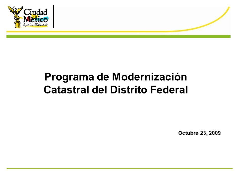 Programa de Modernización Catastral del Distrito Federal