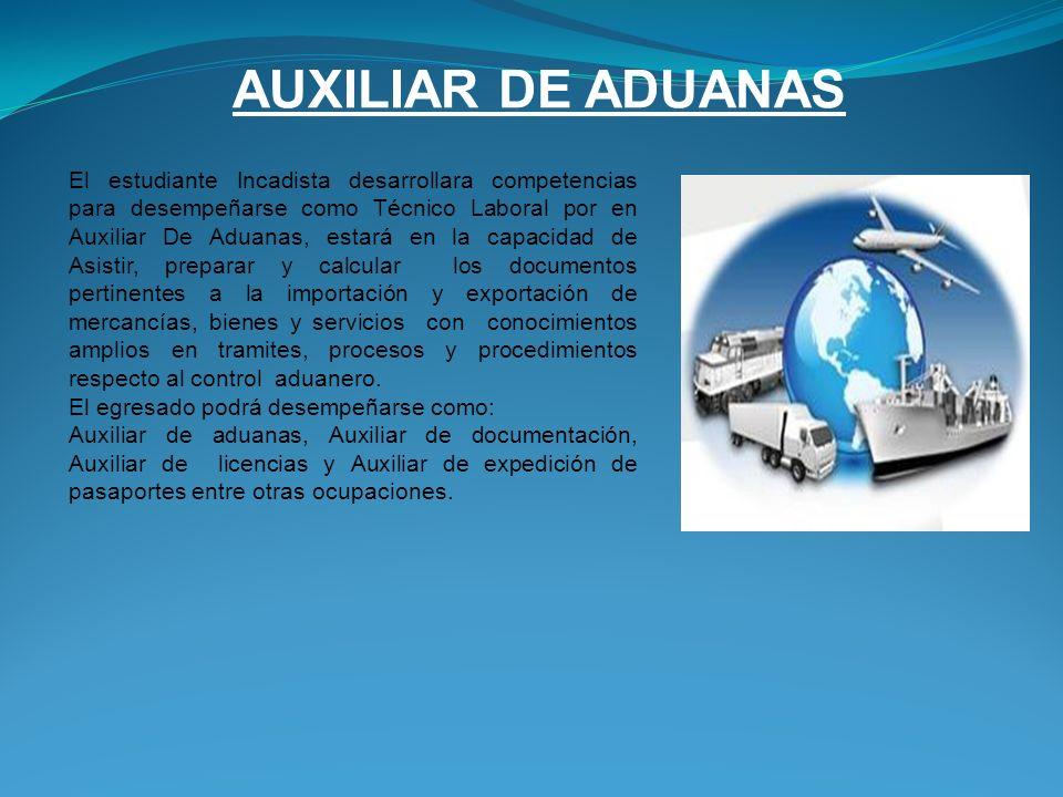 AUXILIAR DE ADUANAS