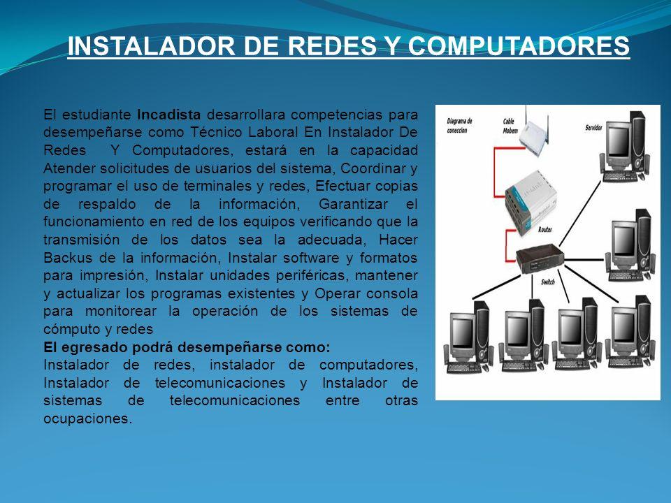 INSTALADOR DE REDES Y COMPUTADORES