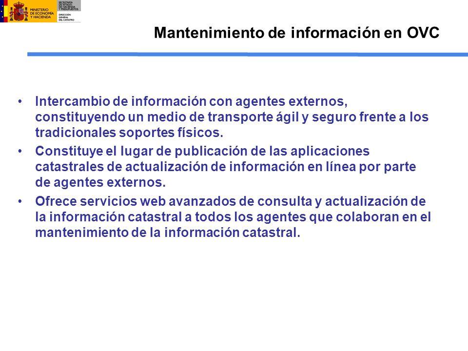 Mantenimiento de información en OVC