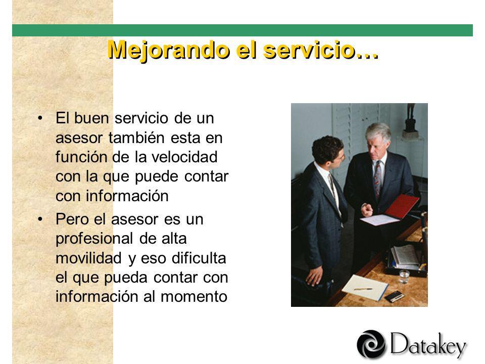 Mejorando el servicio…