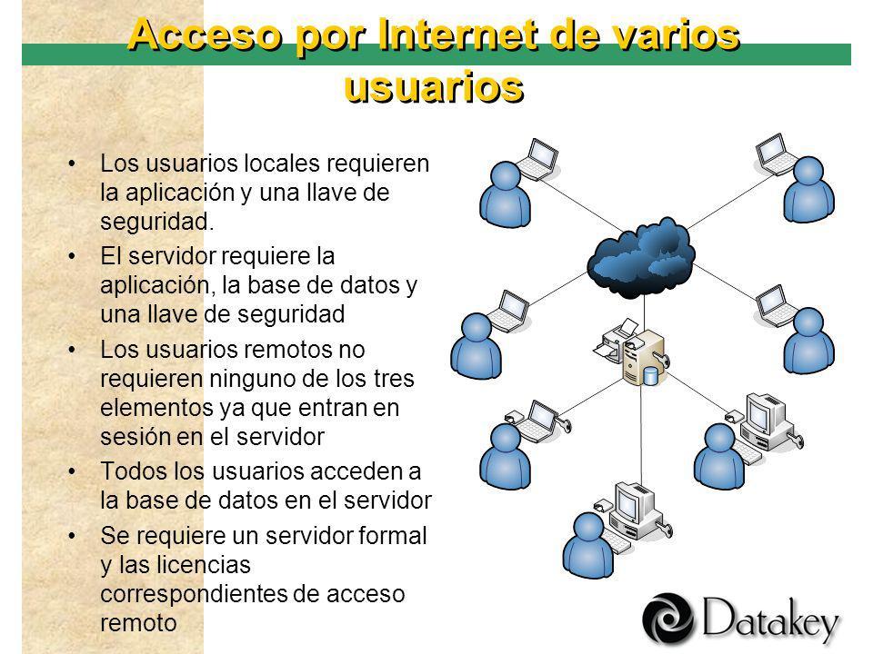 Acceso por Internet de varios usuarios