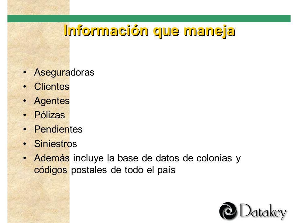 Información que maneja