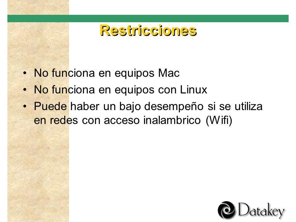 Restricciones No funciona en equipos Mac
