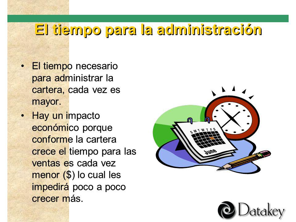 El tiempo para la administración