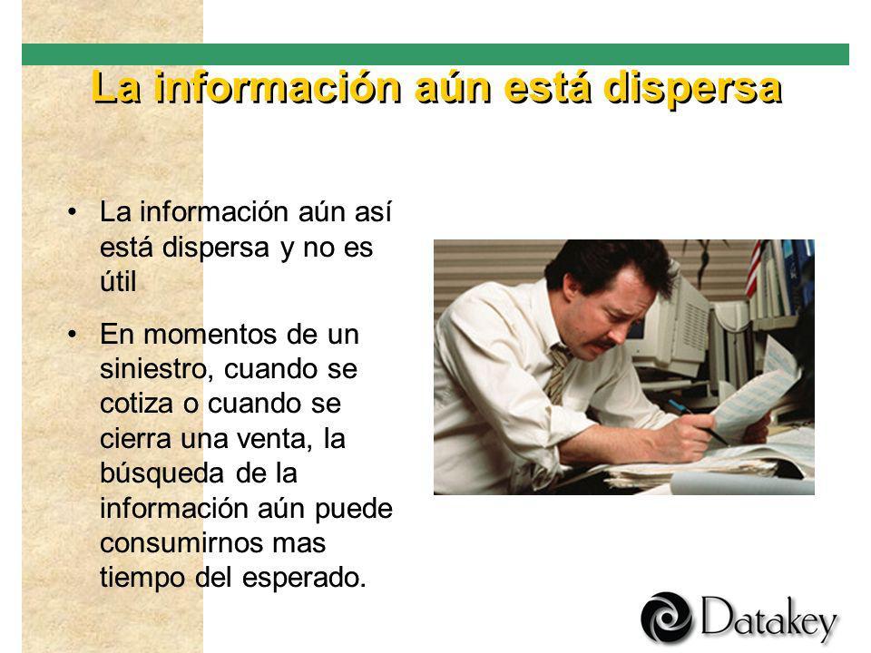 La información aún está dispersa