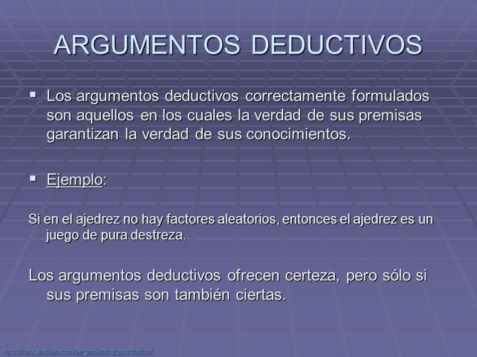 ARGUMENTOS DEDUCTIVOS