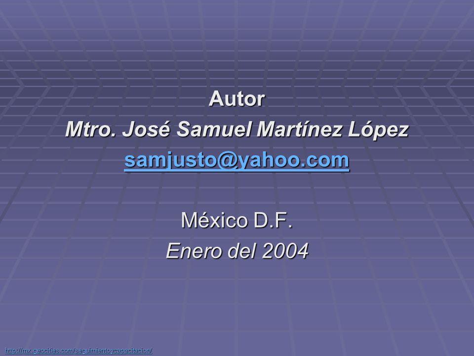 Mtro. José Samuel Martínez López
