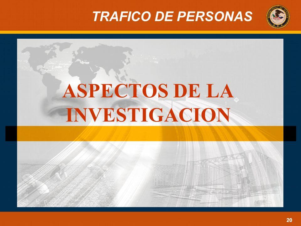 ASPECTOS DE LA INVESTIGACION