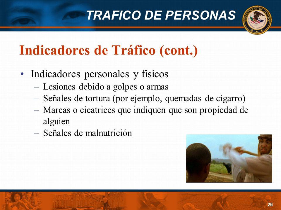 Indicadores de Tráfico (cont.)
