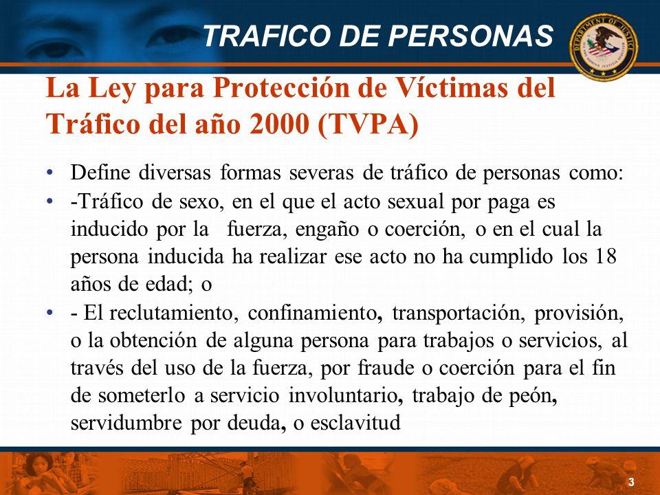 La Ley para Protección de Víctimas del Tráfico del año 2000 (TVPA)