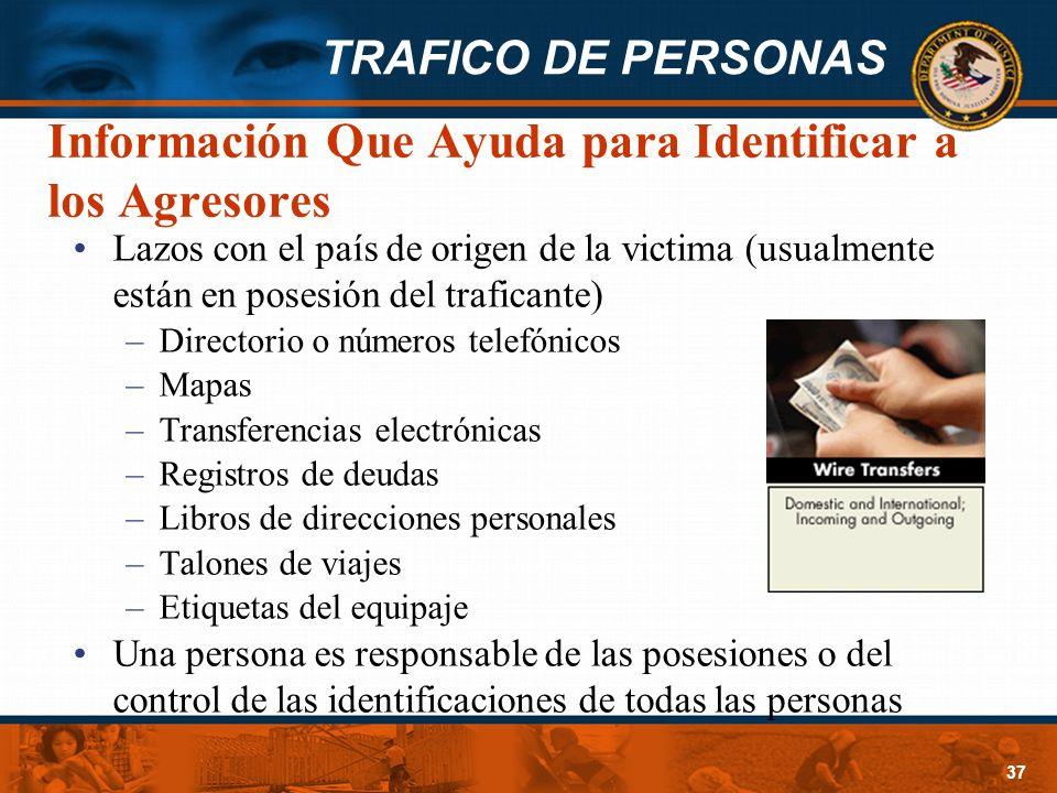 Información Que Ayuda para Identificar a los Agresores