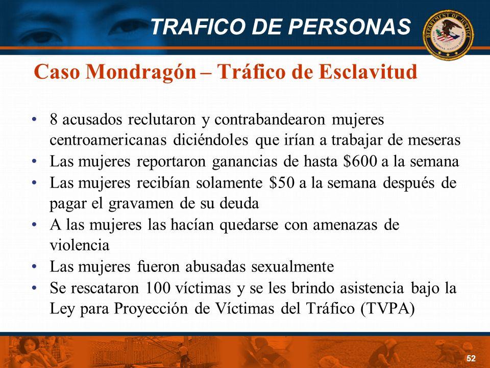 Caso Mondragón – Tráfico de Esclavitud