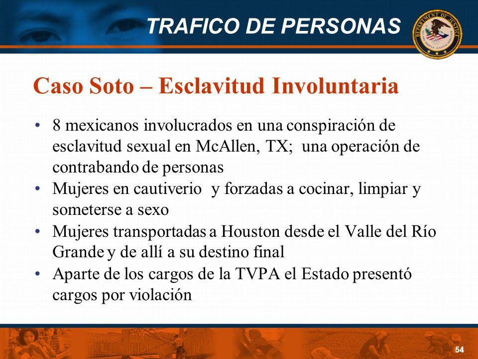 Caso Soto – Esclavitud Involuntaria