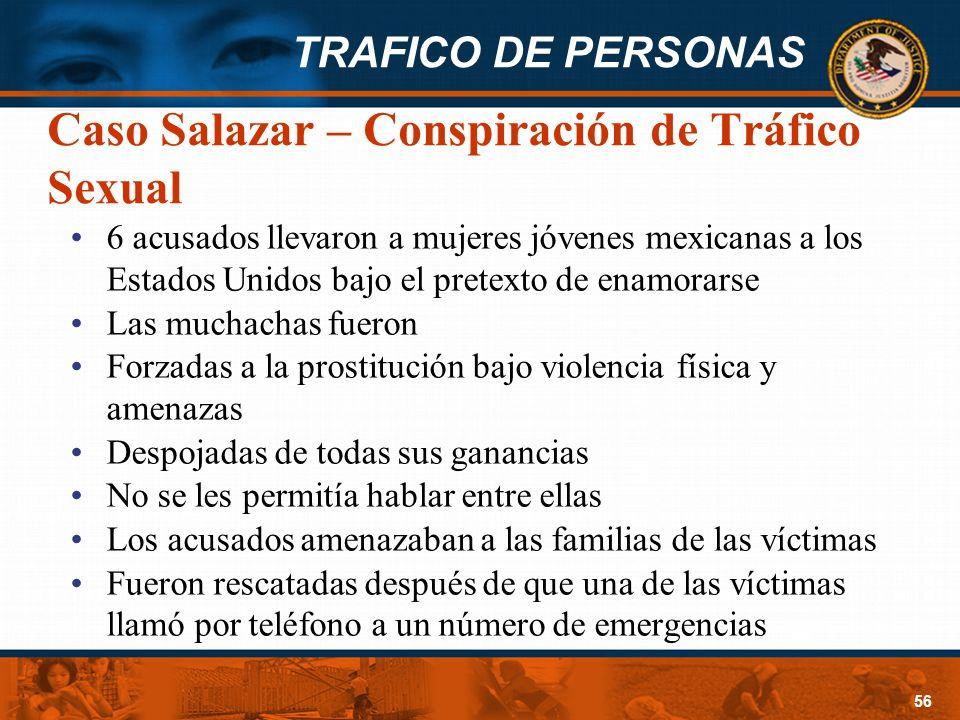 Caso Salazar – Conspiración de Tráfico Sexual
