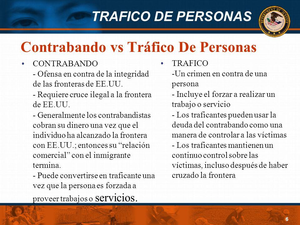 Contrabando vs Tráfico De Personas