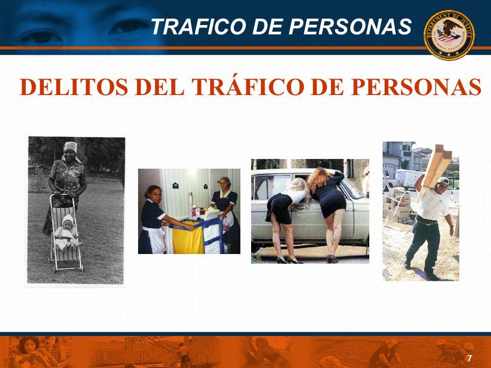 DELITOS DEL TRÁFICO DE PERSONAS