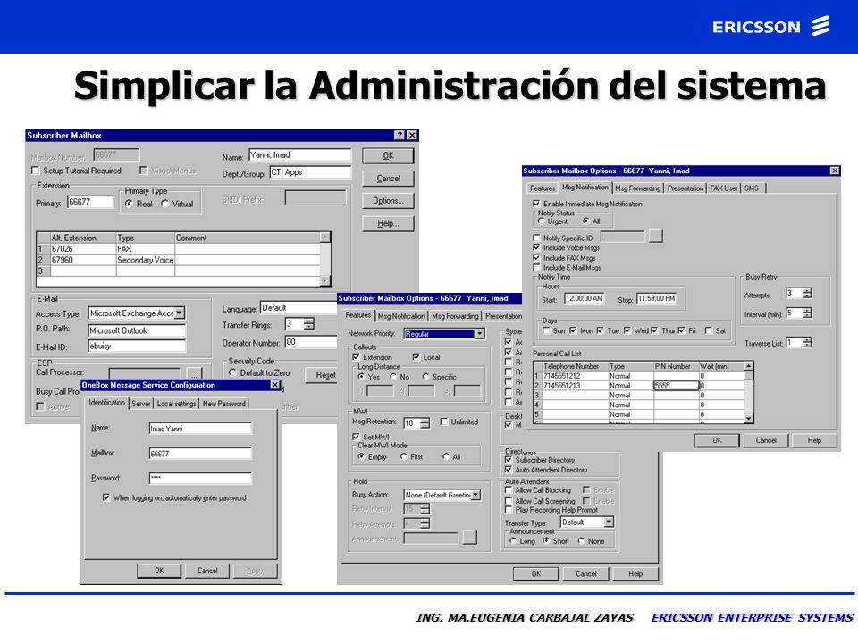 Simplicar la Administración del sistema