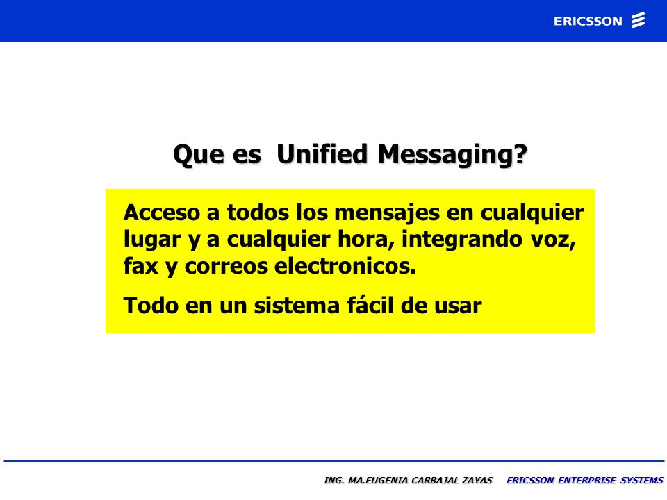 Que es Unified Messaging