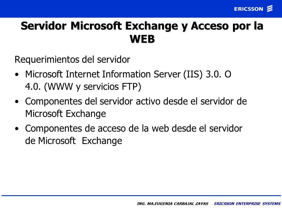 Servidor Microsoft Exchange y Acceso por la WEB
